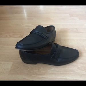 Allen Edmonds Bergamo 4Black Leather Loafers Mens